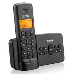 Telefone sem Fio Elgin TSF800SE-42TSF800SE00 com ID de Chamadas e Secretária Eletrônica Viva Voz Preto CX 1 UN