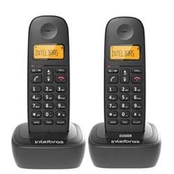 Telefone sem Fio Intelbras TS 2512 + 1 Ramal c/ ID de Chamadas Dect 6.0 Preto CX 2 UN